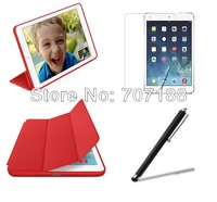 New Ultra Thin Magnetic Smart Cover Case With Sleep Function+Screen Protector+Stylus For iPad Air iPad 5 Tab,free shipping!!