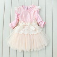 2014 New Spring-summer Girl's fashion lace dresses baby girl dress princess Children party Dresses kids wear 5pcs/lot wholesale