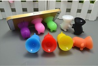 The hot sale Cute Pig Stands Sucker Silicone Phone Holder Support For All Brand Mobile Phone  500pcs/lot
