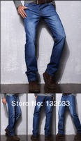 2013 new winter men's jeans men straight men's fashion casual long pants