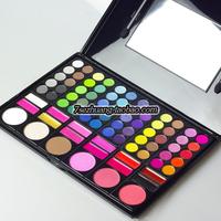 Free shipping Coastal scents 78 makeup palette eye shadow lip gloss blush trimming
