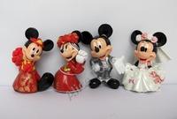 Mickey Mouse Minnie Wedding Cake topper figure set of 4pcs 7cm