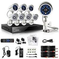 Zmodo 8 CH DVR Outdoor 700TVL CCTV Home Surveillance Security Camera System