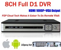 10pcs/lot!CCTV 8CH Full D1 H.264 DVR Standalone Super DVR Security System 1080P HDMI Output DVR ,dvr recorder