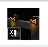 New Solar fence light Classical style LED solar wall lamps good for garden decorations 6pcs/lot Free shipping
