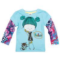 Nova Kids wear new 2013 casual t-shirt girl's fashion lovely girl  hot selling children wear Casual girls' T-shirtsF3352#
