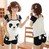 new 2013 autumn -summer plus size pajamas for women totoro costume women pyjama set panda cartoon pyjama 100% cotton sleepwear