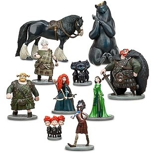 Free shipping 10pcs/lot Brave Toy PVC Action Figures doll/Merida/Black Bear/Collections/Children gifts(China (Mainland))