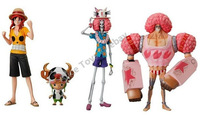 One Piece FLIM Z Luffy Chopper Brook Franky figure toy set of 4 pcs