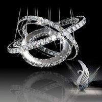 Brief fashion bedroom lights restaurant lamp living room lights high quality led crystal pendant light ofdynamism ring