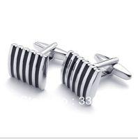 CU1122049 black and white stripes Copper alloy cufflinks men's shirt cuff cufflinks French shirt gentleman business cuff links