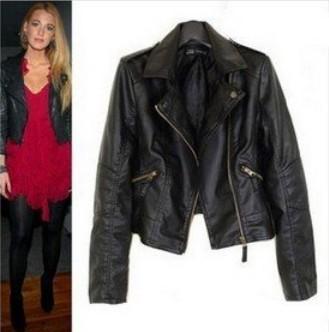 Women Winter Motorcycle Leather Jacket Coat S-XXL 5 Size Short Paragraph Diagonal Zipper outerwear coats 2013 New ow625