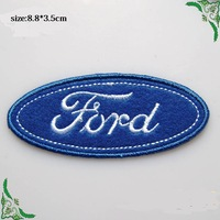 8.8*3.5cm Logo  blue Automobile symbol car tiem iron On Patches Made of Cloth Embroidered  Applique Badge wholesale100pcs/lot