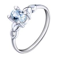 Free shipping  accessories s925 pure silver natural aquamarine ring Women ol sr0287aq  blue topaz rings