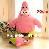 J1 Free shipping Large Giant SpongeBob Sponge Bob Squarepants Patrick Plush toy Doll 70cm , 1pc