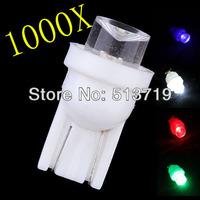 Wholesale Free shipping 1000pcs / lot T10 1 LED Car Indicator Light Bulbs Wedge Lamp T10 1LED Concave 12V White W5W