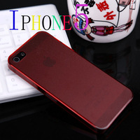 2013 NEW Ultra-thin matte transparent cell mobile phone case for IPHONE 5 FREE SHIPPING by HK POST