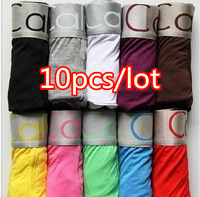 Free shipping, good quality 10pcs/lot Sexy Men Boxer Shorts Men's Boxers Mens underwear+wholesale
