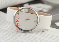 free shipping for 2013 new  fashion Wholesale Exquisite Hollow c Dial Leather k Watch band WristWatch brand logo