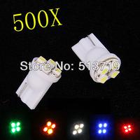 Whole Sale!!! car led auto led w5w 194 4SMD T10 4LED 4 LED smd 3528 1210 Wedge lamp Bulbs Car Side Indicator Light 500pcs/lot