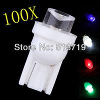 Wholesale Free shipping 100pcs / lot T10 1 LED Car Indicator Light Bulbs Wedge Lamp T10 1LED Concave 12V White