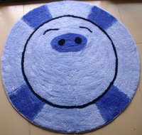 Cartoon child mats carpet circle computer cushion bedroom floor mats diameter 80cm free shipping
