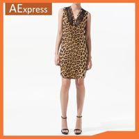 Free Shipping, 2013 Women Dresses, Leopard Animal Print Loose Lace Sleeveless Summer Dress, Cute Dress