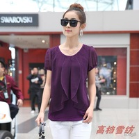 Women's Shirt Size Large Summer Blouses Short Sleeve Shirts Designer Casual For Women  Free Shipping