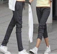 New 2014 autumn -summer women's casual sport pants plus size pencil pants harem pants women trousers color 3 size M,L,XL,XXL