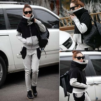 2013 autumn and winter fleece berber fleece sweatshirt trousers casual sportswear set