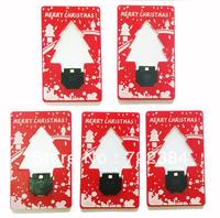 5pcs/lot New Christmas Led Card Light/ Novelty Lighting/Mini Led Card Lamp/Best Gift Mixed Color + Free Shipping