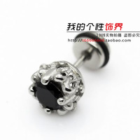 Titanium stud earring dragon kalyptolith male stud earring anti-allergic stud earring general earring in bulk