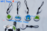 4pcs NFC Tag Classic 1K Android phone tablet HTC Note 2 Lt26i Samsung Galaxy LG Nexus ZTE Acer Asus RFID Smart Label NDEF Epoxy