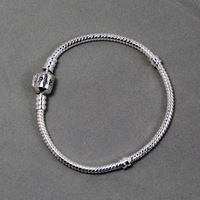 Best seller pb004 exclusive silver bracelet with clasp, please pick up available length