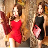 2014 autumn fashion women's plus size slim sexy dress halter-neck slim hip basic one-piece dress  free shipping