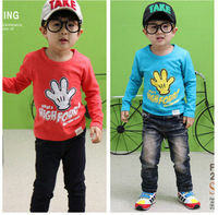 <LEO FASHION>spring and autumn winter children clothes boys girls sweater child clothing T Shirt free shipping T-275