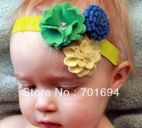 Wholesale - -girls hair bow hairbows hairband felt hairbows headbands new style 20pcs/lot