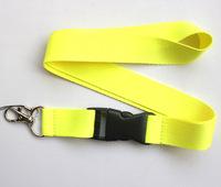 Hot 20 pcs yellow Pure color Lanyard Neck Strap Lanyard WHOLESALE Free shipping