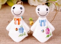 FREE SHIPPING 50pcs high quality traditional mascot china windbell pendant pottery and porcelain type 12