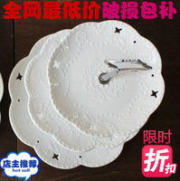 Fashion ceramic fruit plate cake stand cake pan afternoon tea dessert plate fashion birthday gift