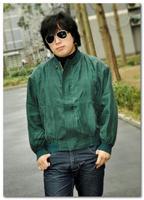 2013New Fashion Soft Zipped Shoulder Pad Long Sleeve 100% Silk Coat Purple free shipping