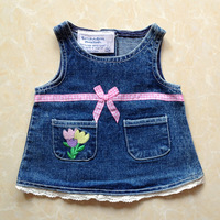 Build a bear duffy plush toy clothes embroidered denim one-piece dress