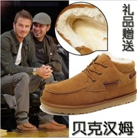 [ Free shipping] 2013 New arrival fashion male genuine leather cowhide warm martin ankle boots snow boots big size men' shoes