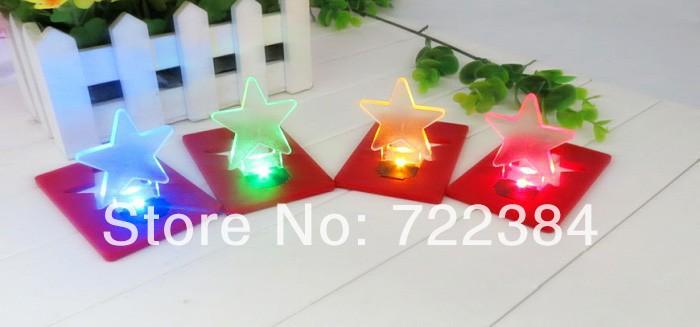 10pcs/lot Mini Pocket LED Light / Led Card Lamp /credit card light mix colors Free Shipping(China (Mainland))