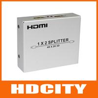 FREE Shipping 2 port HDMI Splitter 1*2, V1.4, support 3D, support 4K*2K