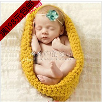 Clothes 2013 yarn knitted style sleeping bag infant clothes