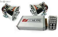 Car alarm siren AS990 sound speaker 400W Wireless HD 18 horn loudspeaker Electric Car