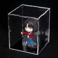 Wholesale 8*8*10 Toy Small clay Dedicated Model Display Box Transparent Color Acrylic Display Cabinet Dust-proof Box