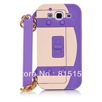 Free shipping For Samsung Galaxy S3 i9300 3D Silicone Designer Handbag Chain Purse Cover Case