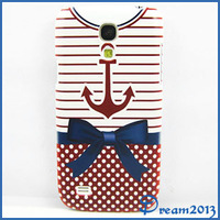 New Fashion Sailor Suit Bowknot Clothes Hard Rubber Case Cover Skin For Samsung Galaxy S4 Mini I9190